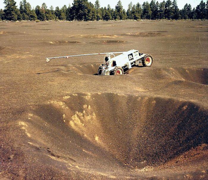 Lunar Rover Vehicle simulator, Explorer at Cinder Lake Crater Field