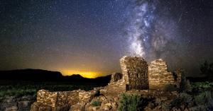 Wupatki Monument dark sky with Milky Way