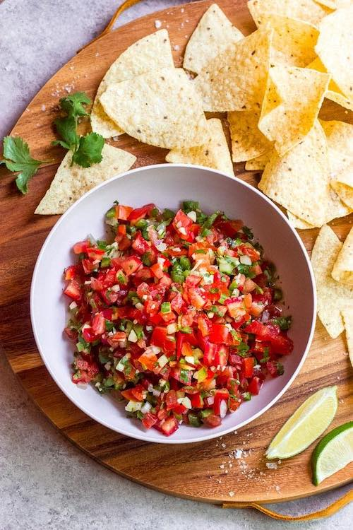 Roasted Pepper and Tomato Salsa, healthy easy 4th of July recipes
