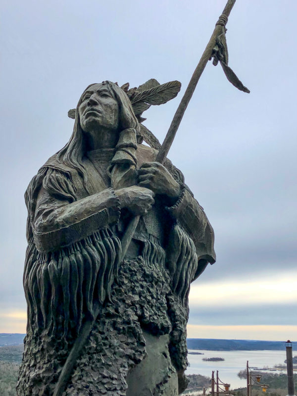 Native American statue, Top of the Rock, Big Cedar Lodge, Branson