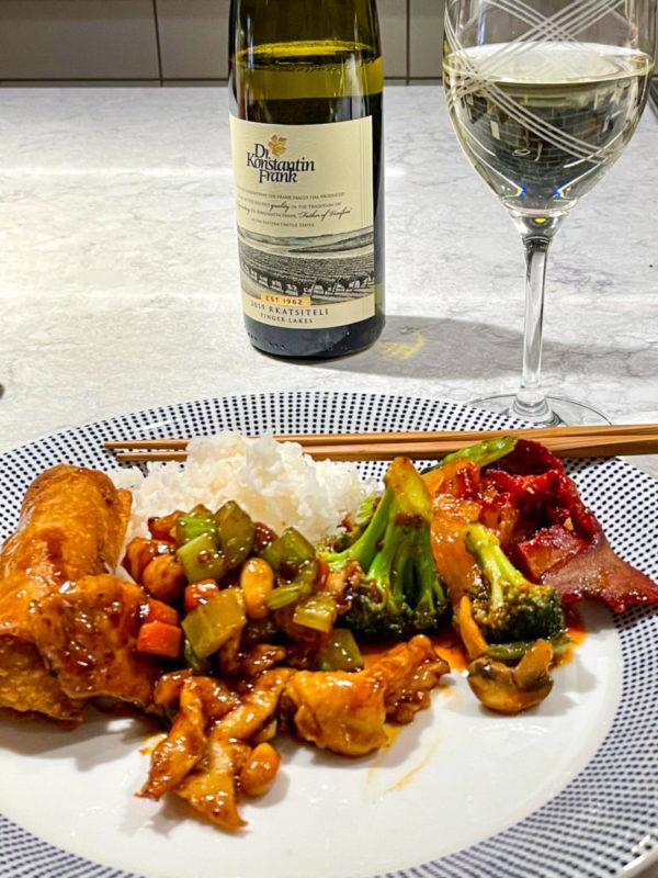 Chinese food pairs well with Dr. Konstantin Frank Rkatsiteli wine
