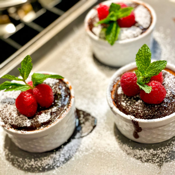 Ramekin Chocolate Molten Cake for two