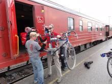 Offloading at Bodø Station