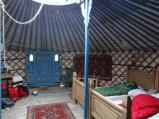 Our Yurt for the night, Llanidloes
