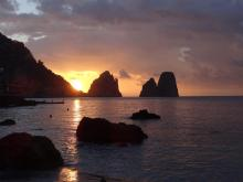 Sunrise over the Faraglioni, Capri