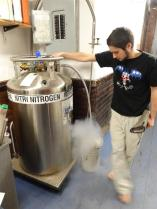 Liquid Nitrogen, just what every student house should have