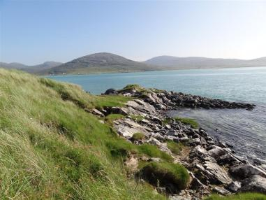 Spot the tent, Luskentyre, Harris