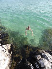 Evening dip, Luskentyre, Harris