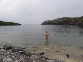 Evening swim, Gearranan, Lewis