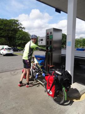 Filling up at Stornoway, Lewis