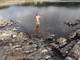 Evening dip, Lochinver