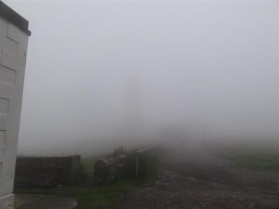 A foggy arrival at Cape Wrath lighthouse