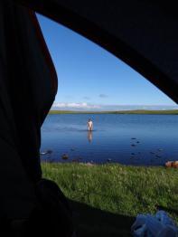 Evening dip, Eshaness, Shetland