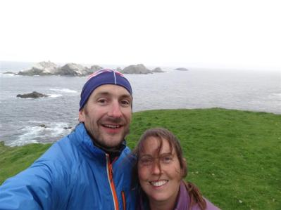 The most northerly couple in the UK, Muckle Flugga, Unst, Shetland