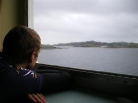 A soggy ferry journey from Harris to Benbecula