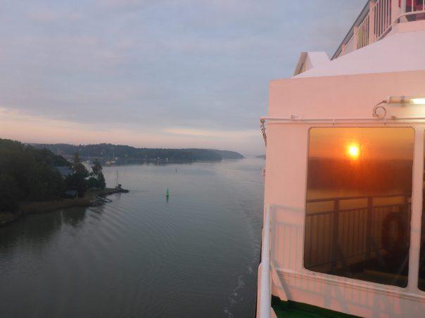 Sailing into Turku at dawn
