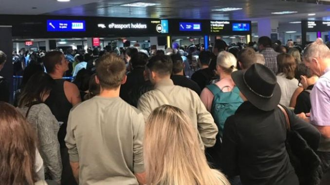 Delays in International Airport across Australia due to IT outage.