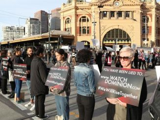 Animal Activists have shut down intersection in Melbourne.