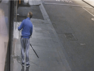 Police are hunting a man who used a fishing rod to steal a Versace necklace off a mannequin in a Melbourne CBD store last week.