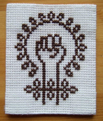 feminism cross-stitch