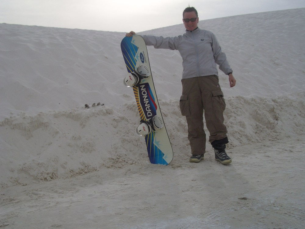 Sandboarding White Sands National Monument and Missile Range (1/6)