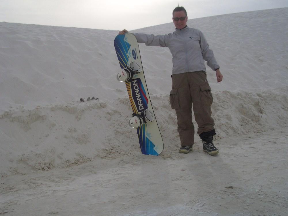 Sandboarding White Sands National Monument and Missile Range (1/6)