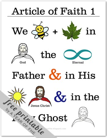 photo relating to Articles of Faith Printable called Family members Residence Night time: The Content material of Religion -