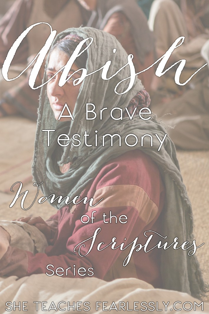 Abish: A Brave Testimony is the story of how a young servant helped bring forth God's Word to an unbelieving culture. Her example is still relevent today!