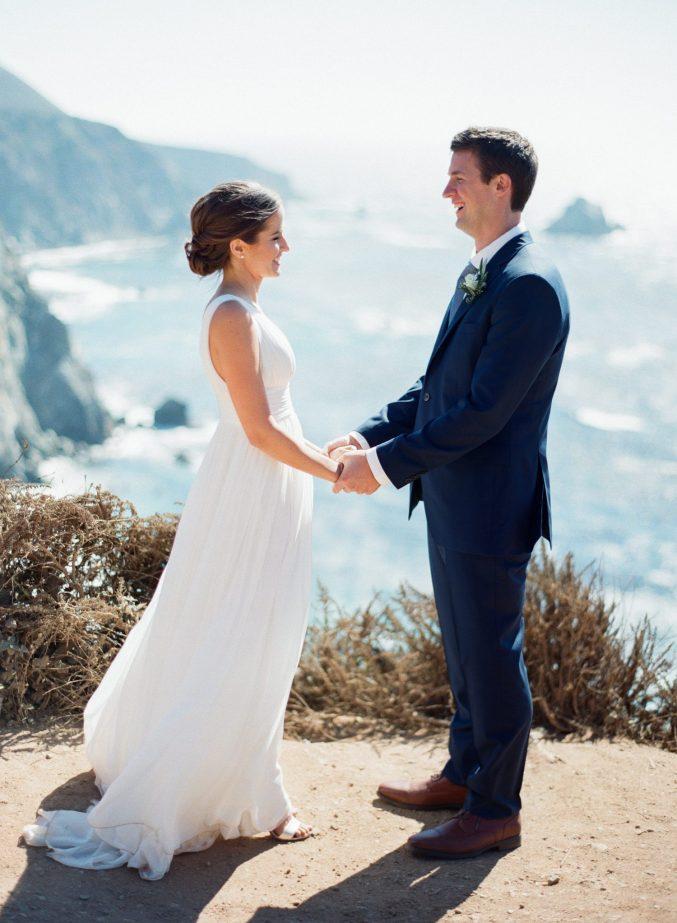 best-places-elope-bixby-bridge-wedding-photo-holding-hands