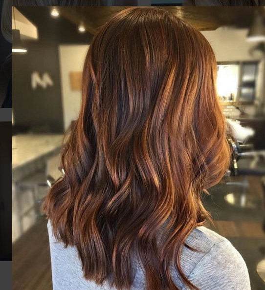 Brunette Balayage Hair Color Idea