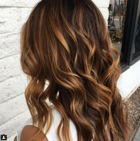 Dimensional Brunette Balayage Hair Color Idea