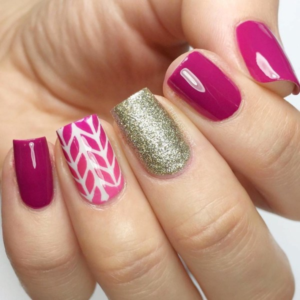 Gel Nail Designs and More: Girly Cute Nail Art by BaseCoat