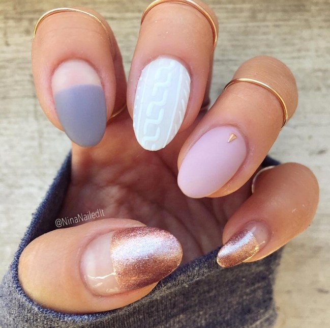 Mix & Match Gel Nail Designs - 33 Gel Nail Designs That You Will Want To Copy Immediately