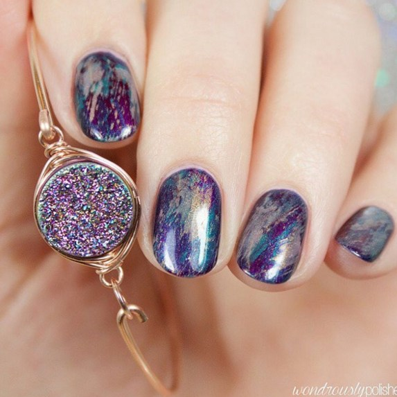Gel Nail Designs and More: Marbled Nail Art