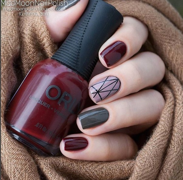 Gel Nail Designs and More: Winter Mix Match Nail Art