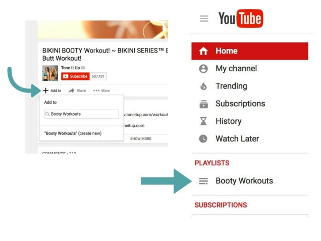 Create Butt Workouts At Home YouTube Playlist
