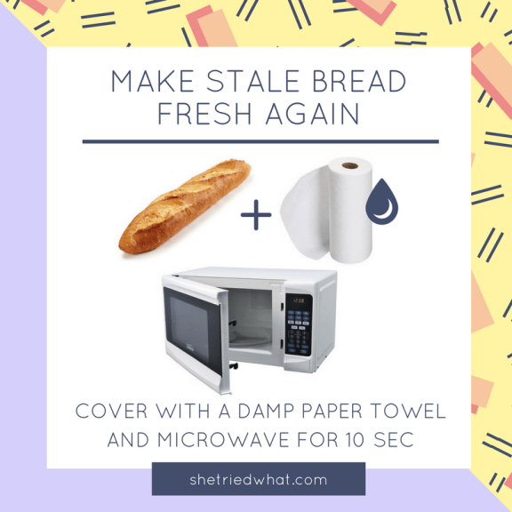 Kitchen Hacks: Revive Stale Bread in the Microwave