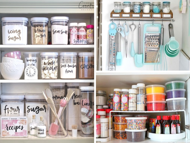 diy kitchen cabinet organizers 14 baking cabinet organization ideas worth copying she 14918