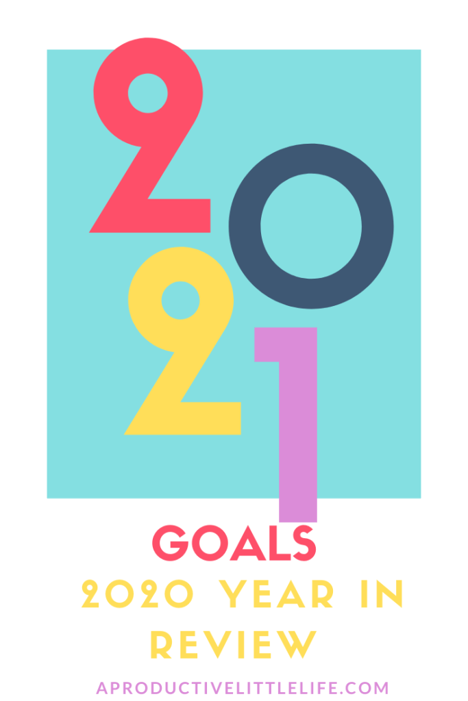 I am ready for 2021 but first before I do my next year's goals, I have to reflect on 2020.