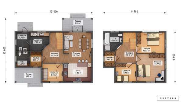 K025 — каркасный дом, проект Остин