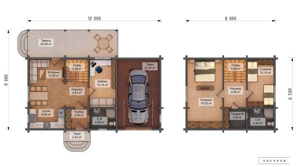 Проект деревянный дом, строительство дома из бруса, сруб. из дерева, деревянный дом цена план дома D050