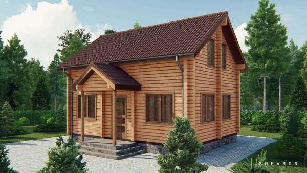 Строительство деревянный дом из бруса сруб из дерева деревянный цена купить D006