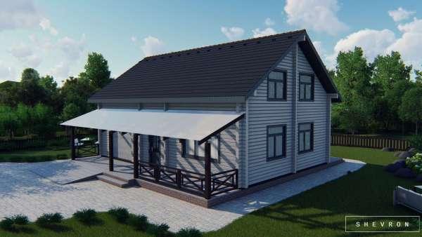 Строительство деревянного дома по проекту Винница D013
