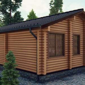Строительство деревянного дома по проекту Висла D014