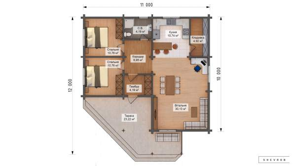 План Строительство деревянного дома по проекту Витониж D015