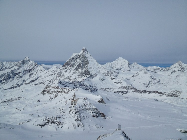 From the Viewing Deck of the Matterhorn Glacier Paradise