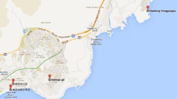 Haeundae Map