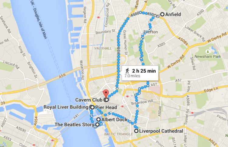 My Day in Liverpool (Map) - www.shewalkstheworld.com