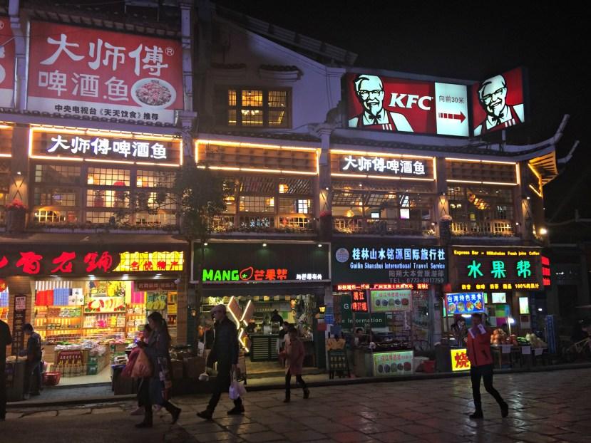 West Street in Yangshuo, Guangxi, China.