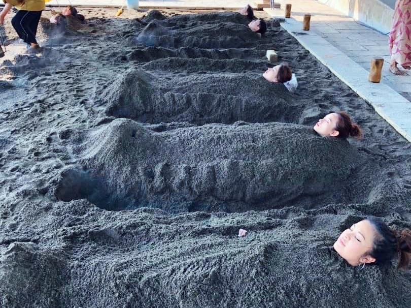 Shoningahama Beach Sand Bath